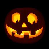 Glowing Jack-o'-lantern pumpkin isolated — Stock Photo