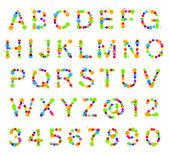 ブロット スポットから成っている abc のアルファベット — ストック写真