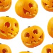 Seamless Jack-o'-lanterns pumpkin pattern — Stock Photo