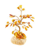 Tree statuette made of amber — Photo