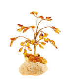 Tree statuette made of amber — Foto Stock