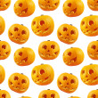 Seamless Jack-o'-lanterns pumpkin pattern — Foto Stock