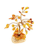 Tree statuette made of amber — Stock Photo