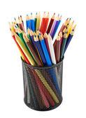 Μολυβοθήκη γεμάτη μολύβια — Φωτογραφία Αρχείου
