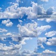 Stock Photo: Cloudy sky collection