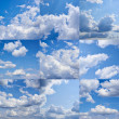 Cloudy sky collection — Stock Photo