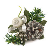 Fir-tree branch christmas decoration — Stock Photo
