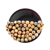 Pencil holder full of pencils — Stock Photo