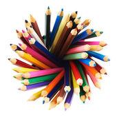 Round twirl of pencils — Stock Photo