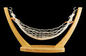 Hammock made of net and wood isolated — Stock Photo
