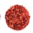 Red christmas decoration balls isolated — Stock Photo