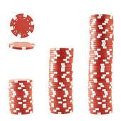 Three stacks of casino chips — Stock Photo