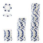 Tres pilas de fichas de casino — Foto de Stock