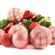 Decoration christmas ball composition — Stock Photo