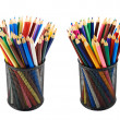Stock Photo: Pencil holder full of pencils