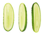 Cucumber halves isolated — Stock Photo
