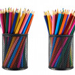 Pencil holder full of pencils — Stock Photo #39195639