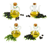 Olive oil glass vessel isolated — Stock Photo