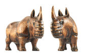 Rhinoceros rhino sculpture — 图库照片