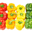 Colorful sweet bell peppers — Stock Photo