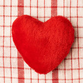 Plush red heart — Stockfoto