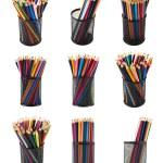 Pencil holder full of pencils — Stock Photo #41569311