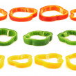Set of sliced bell pepper section pieces — Stock Photo #41647089