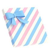 Scatola regalo avvolto con un fiocco e nastro — Foto Stock