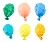 Deflated balloon isolated — Stock Photo