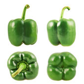 Sweet bell pepper set isolated — Zdjęcie stockowe