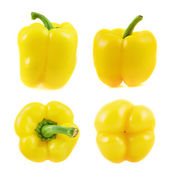 Sweet bell pepper set isolated — Stock Photo