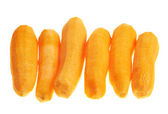 Multiple peeled carrot composition — Stock Photo