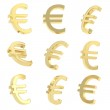 Euro currency sign render — Stock Photo #44643553
