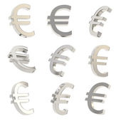 Euro currency sign render — Stock Photo