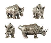 Escultura de rhino rinoceronte isolada — Fotografia Stock