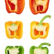 Sweet bell pepper cut in half — Stock Photo #44805595