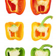 Sweet bell pepper cut in half — Stock Photo