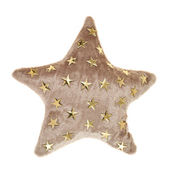 Plush brown star shaped pillow toy — Stock Photo