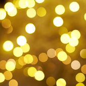 Yellow bokeh lighs — Stock Photo
