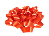 Decorational red bow isolated — Stock Photo