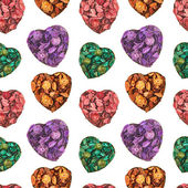 Heart medley potpourri pattern — Stock Photo