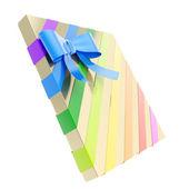 Caixa de presente embrulhado com um arco e fita — Foto Stock