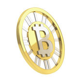 Bitcoin crypto currency coin isolated — Stock fotografie