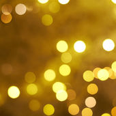 Yellow bokeh lighs — Photo