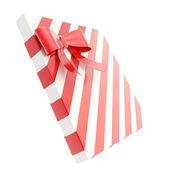Gewikkeld geschenkdoos met een pijl en boog lint — Stockfoto