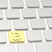 Bitcoin keyboard button composition — Stock Photo