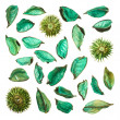 Dried medley potpourri leaves isolated — Stock Photo #47061959