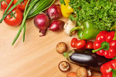 Multiple vegetables on the table — Stock Photo