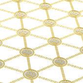 Bitcoin peer-to-peer network — Stock Photo
