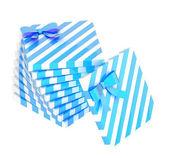 синий подарочные коробки — Стоковое фото